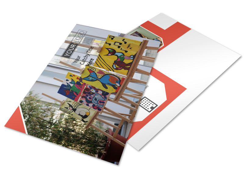 City Art Exhibition Postcard Template Preview 1