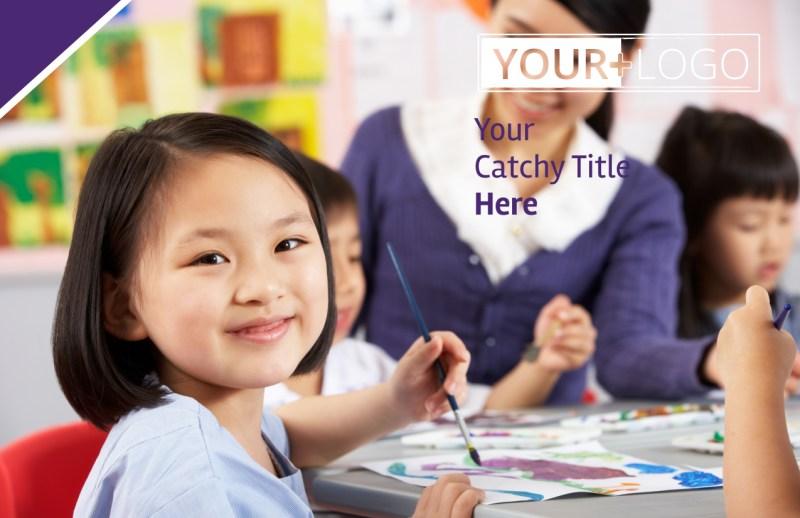 Child Care Center Postcard Template Preview 2