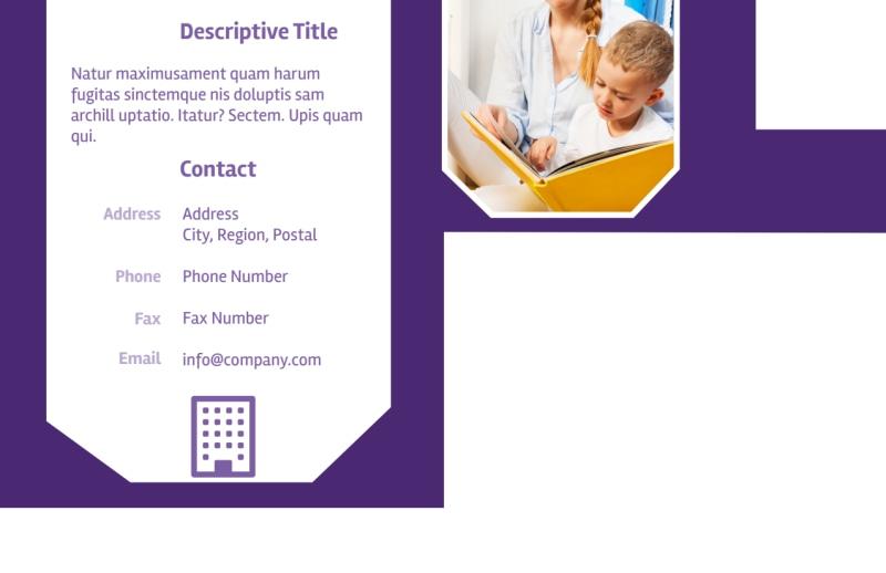 Child Care Center Postcard Template Preview 3