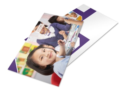 Child Care Center Postcard Template preview