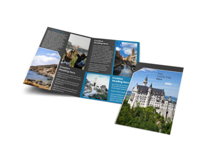 European Travel Agency Bi-Fold Brochure Template preview