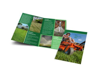 Lawn Care Service Bi-Fold Brochure Template preview