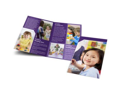 Child Care Center Bi-Fold Brochure Template preview