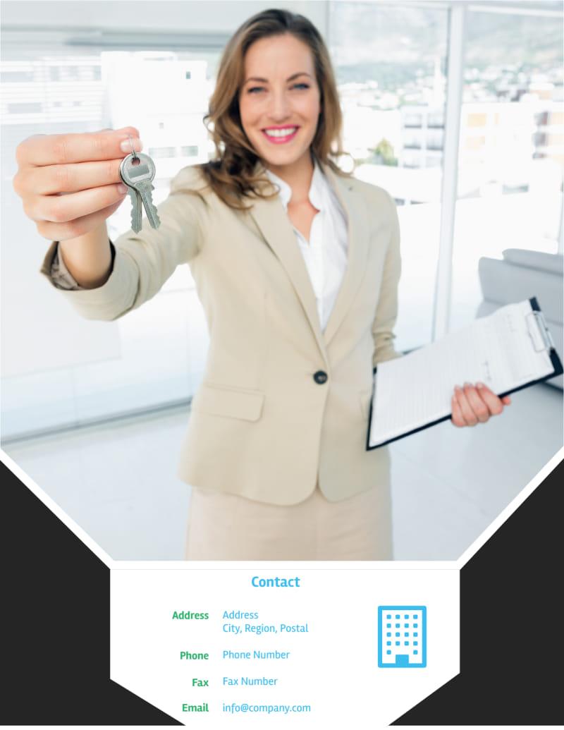 Condominium Real Estate Flyer Template Preview 3
