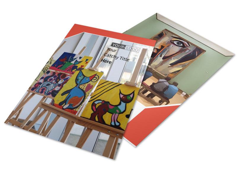 City Art Exhibition Flyer Template