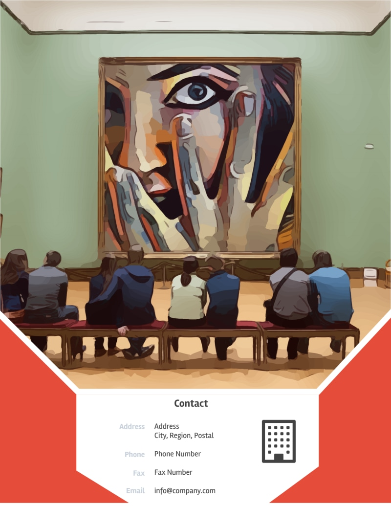 City Art Exhibition Flyer Template Preview 3