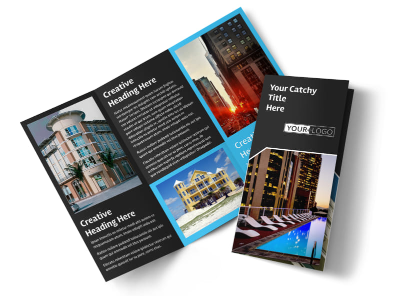 Condominium Real Estate Brochure Template | Mycreativeshop
