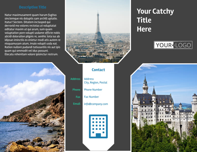 European Travel Agency Brochure Template Preview 2
