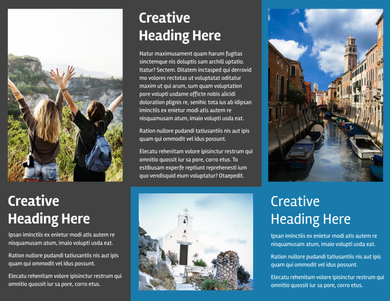 European Travel Agency Brochure Template Preview 3