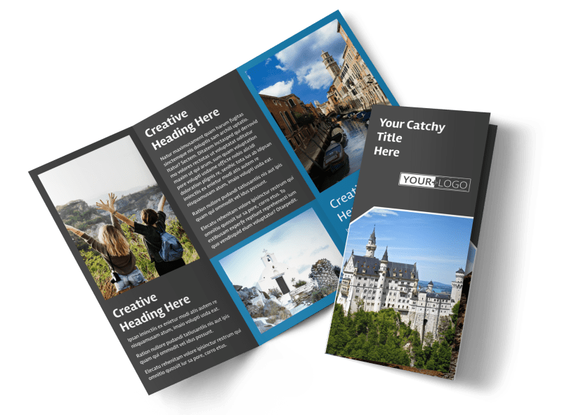 European Travel Agency Brochure Template Preview 1