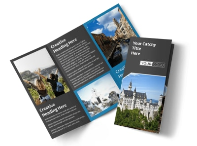 European Travel Agency Tri-Fold Brochure Template preview