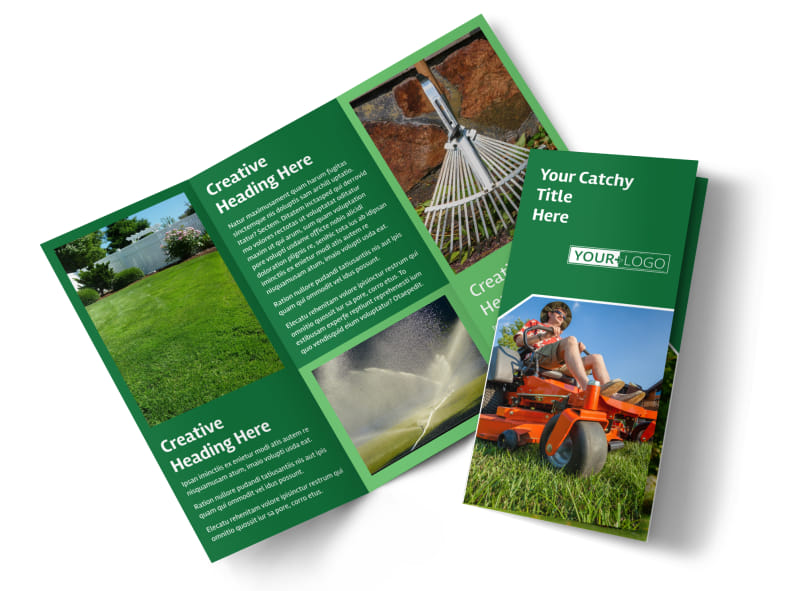 Lawn Care Service Brochure Template Preview 4