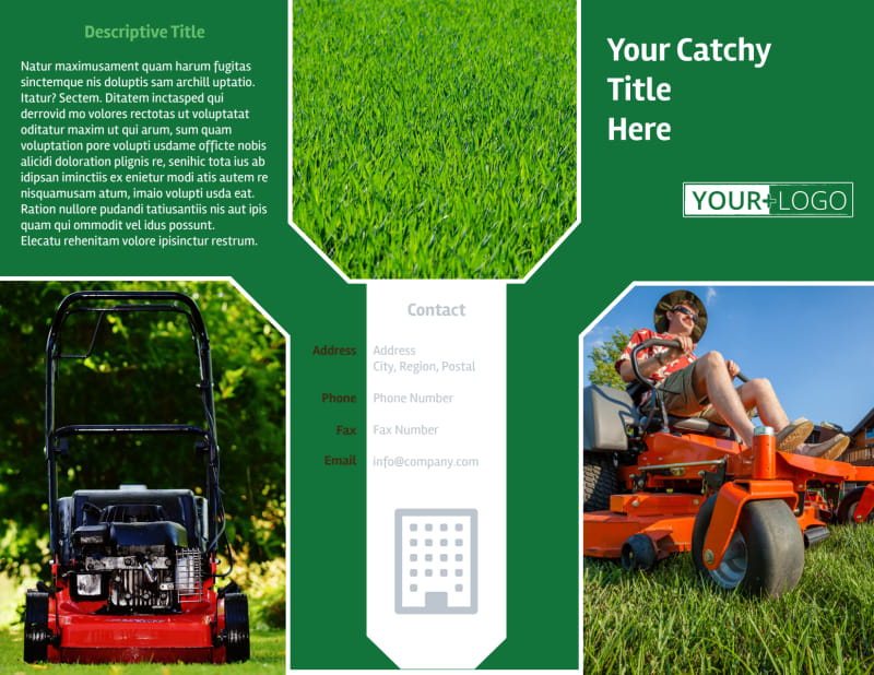 Lawn Care Service Brochure Template Preview 2