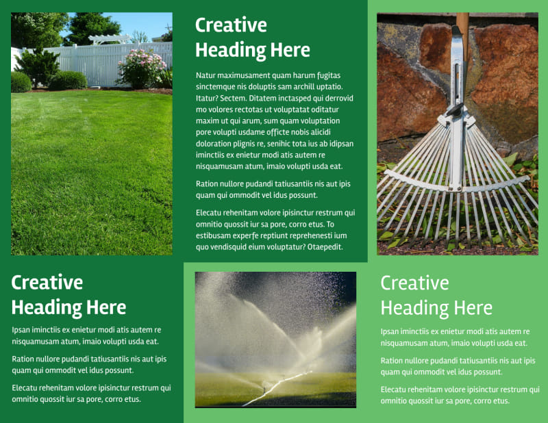 Lawn Care Service Brochure Template Preview 3