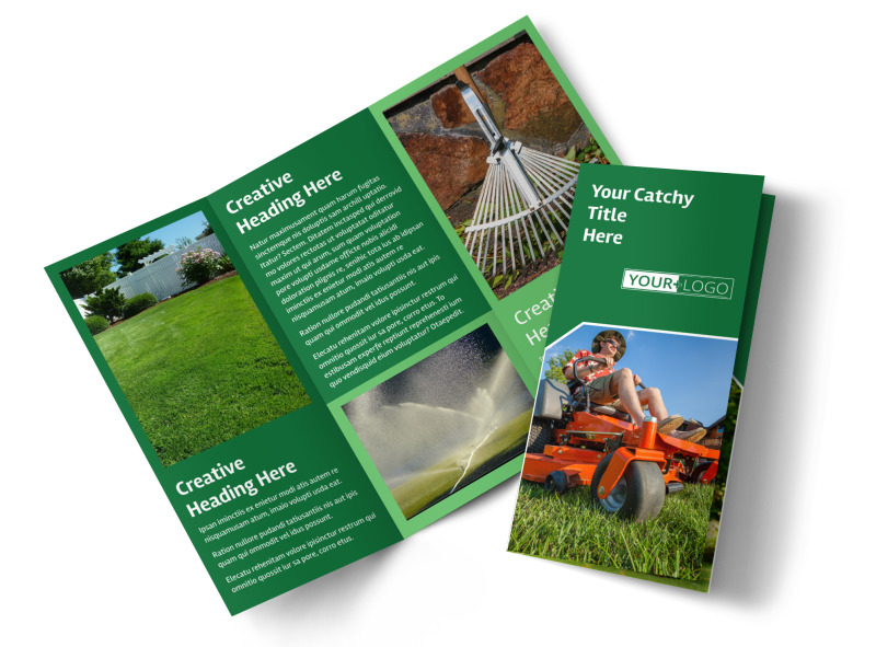Lawn Care Service Brochure Template Preview 1