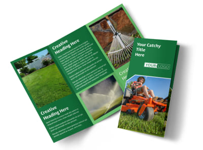 Lawn Care Service Tri-Fold Brochure Template preview
