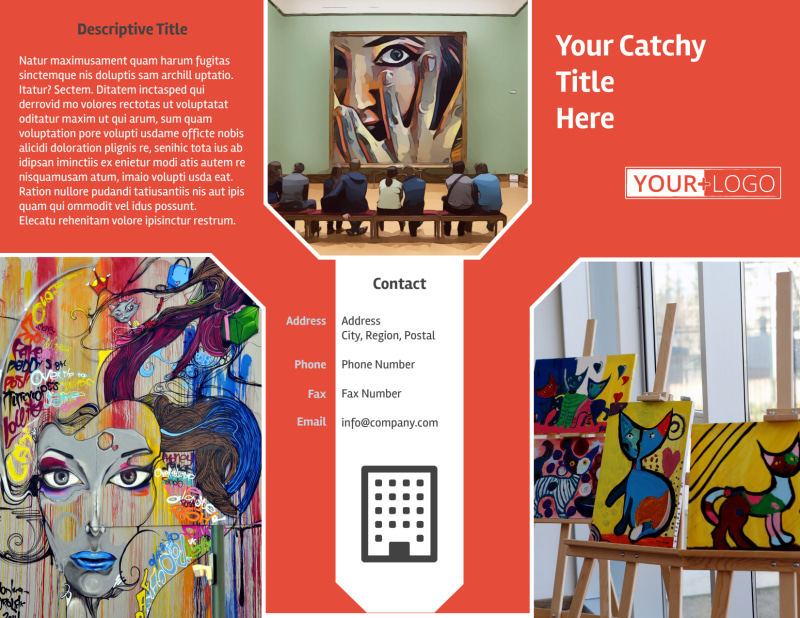 City Art Exhibition Brochure Template Preview 2