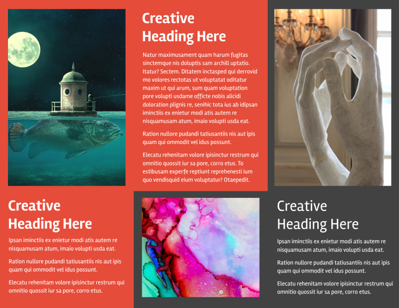 City Art Exhibition Brochure Template Preview 3