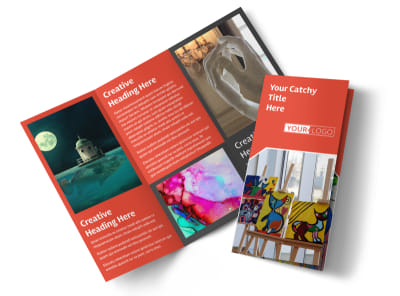 City Art Exhibition Tri-Fold Brochure Template
