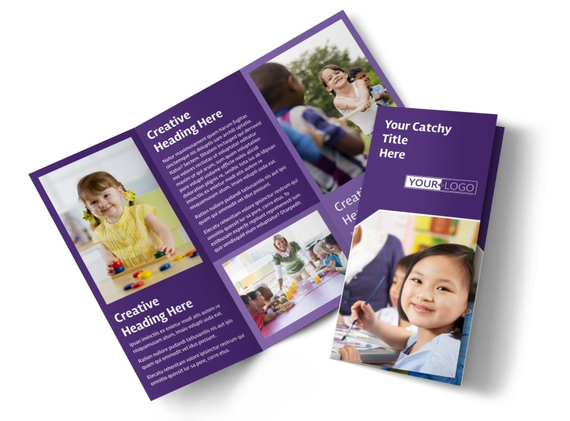 Child Care Center Brochure Template Preview 4