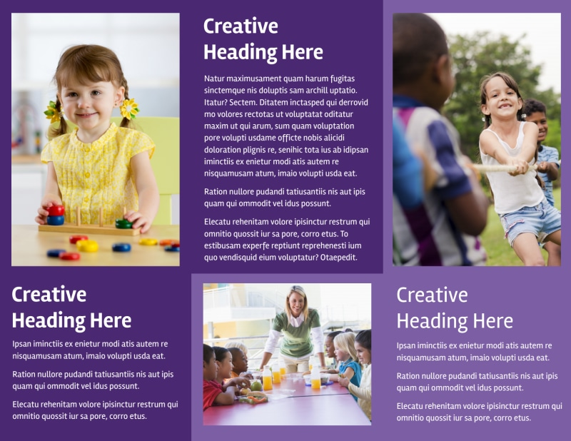 Child Care Center Brochure Template Preview 3