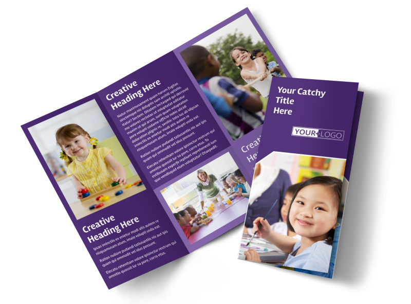 Child Care Center Brochure Template Preview 1