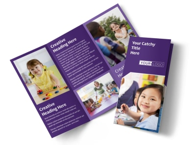 Child Care Center Tri-Fold Brochure Template preview