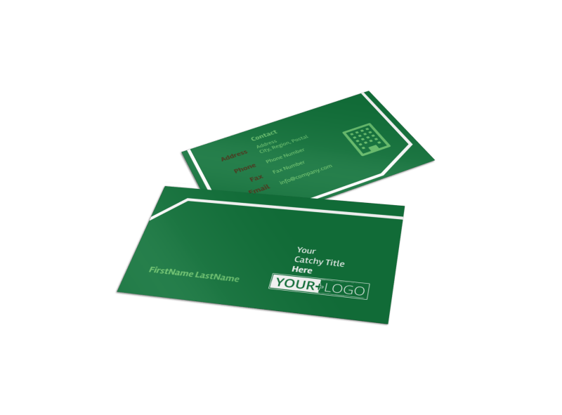 Lawn Care Service Business Card Template Preview 1