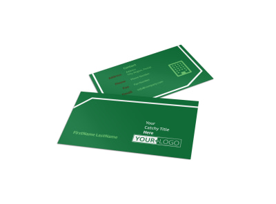 Lawn Care Service Business Card Template preview