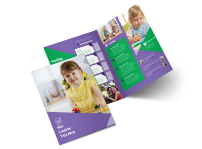Daycare Center Bi-Fold Brochure Template 2