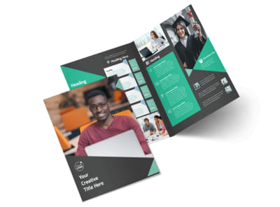 Computer Education Bi-Fold Brochure Template 2