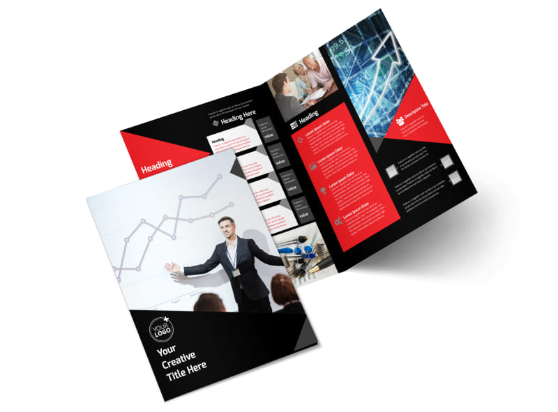Financial Analysis Consulting Bi-Fold Brochure Template 2