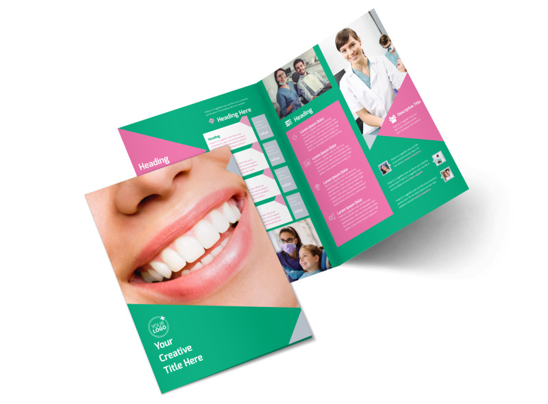 Dental Surgery Center Bi-Fold Brochure Template 2