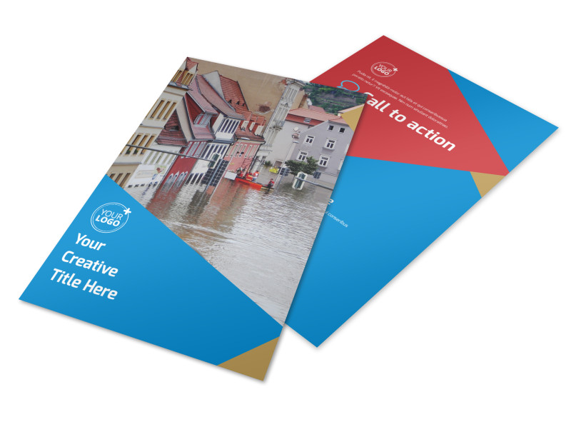Flood Insurance Flyer Template 3