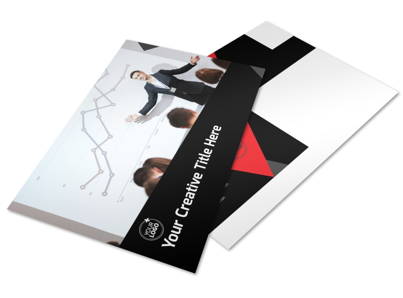 Financial Analysis Consulting Postcard Template