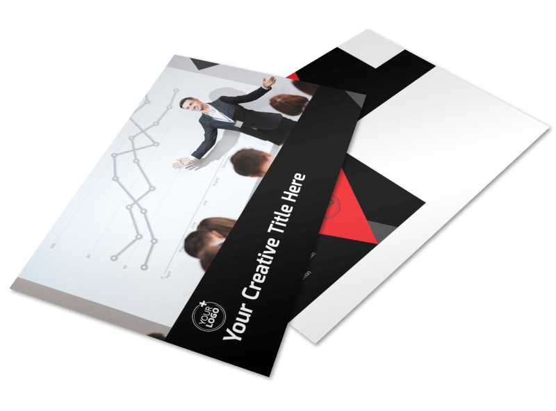 Financial Analysis Consulting Postcard Template Preview 1