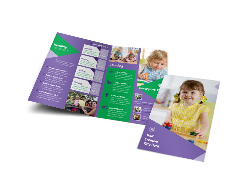 Daycare Center Brochure Template Preview 4
