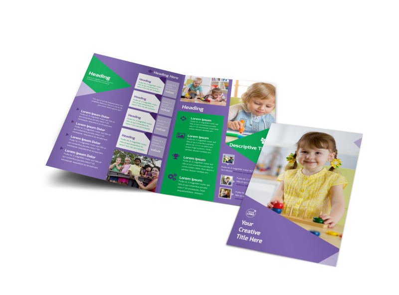 Daycare Center Brochure Template Preview 1