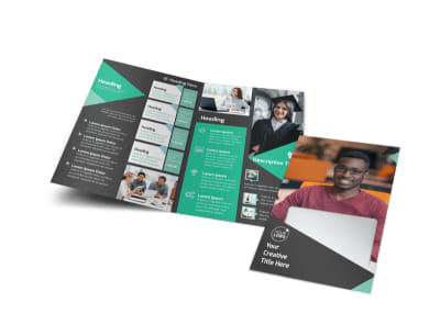 Computer Education Bi-Fold Brochure Template