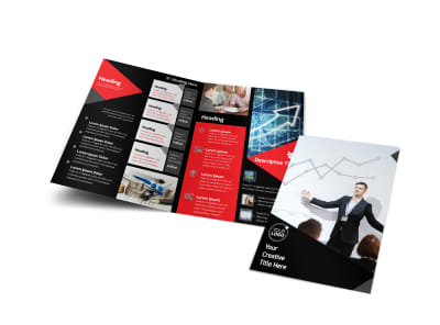Financial Analysis Consulting Bi-Fold Brochure Template preview