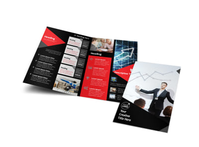 Financial Analysis Consulting Bi-Fold Brochure Template