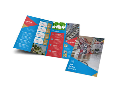 Flood Insurance Bi-Fold Brochure Template preview