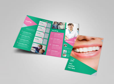 Dental Surgery Center Bi-Fold Brochure Template preview