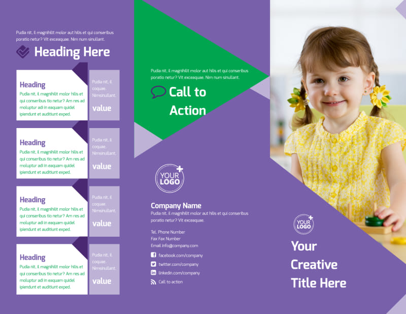 Daycare Center Brochure Template Preview 2