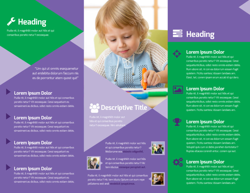 Daycare Center Brochure Template Preview 3