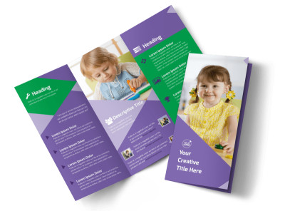 Daycare Center Tri-Fold Brochure Template preview