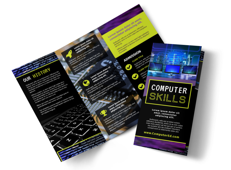 Computer Education Brochure Template Mycreativeshop