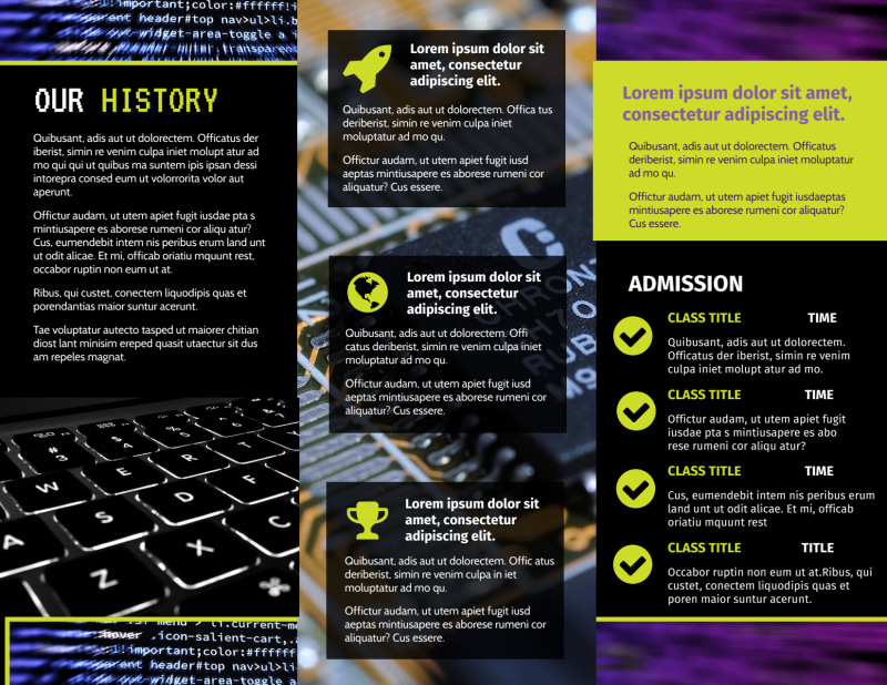 Computer Education Brochure Template Preview 3