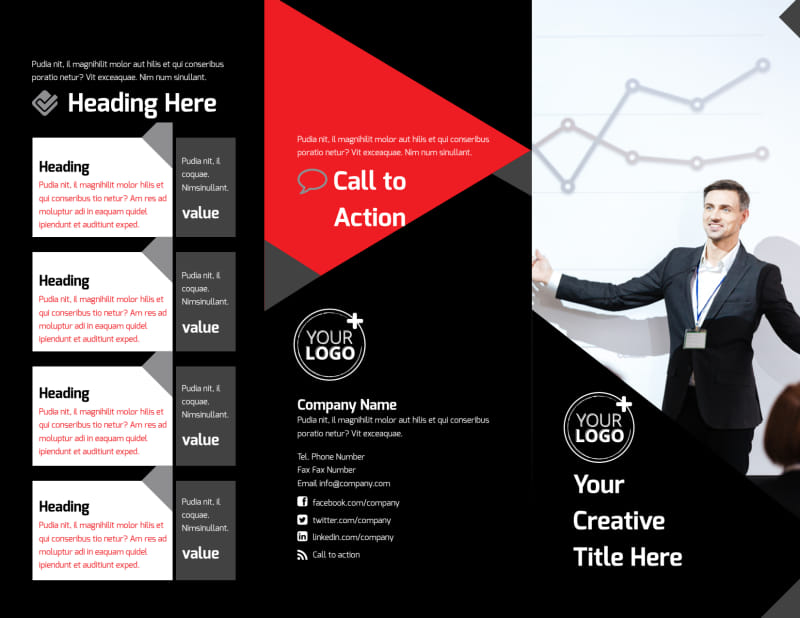 Financial Analysis Consulting Brochure Template Preview 2