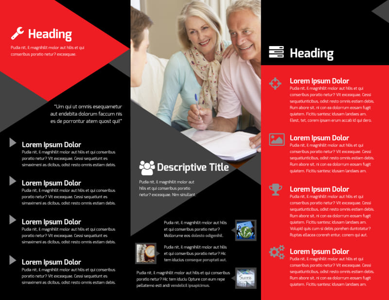Financial Analysis Consulting Brochure Template Preview 3